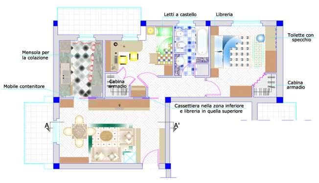 Piante arredamento moderno good interni vasi e piante for Progetti case interni moderni
