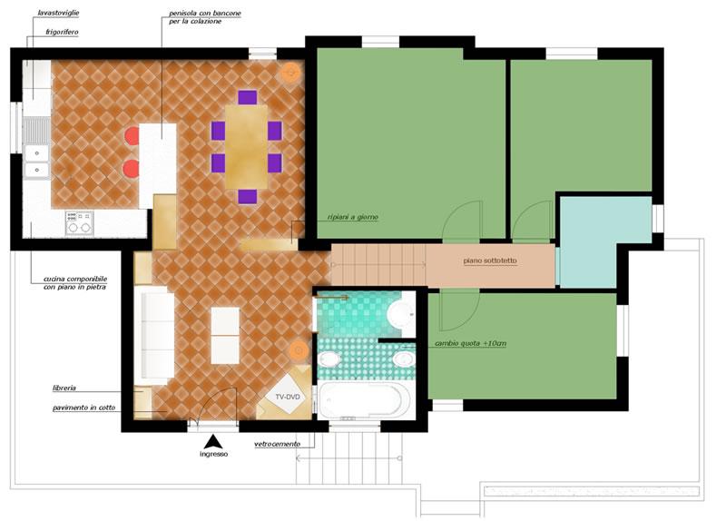 Ambiente unico cucina soggiorno - Cucina ambiente unico ...