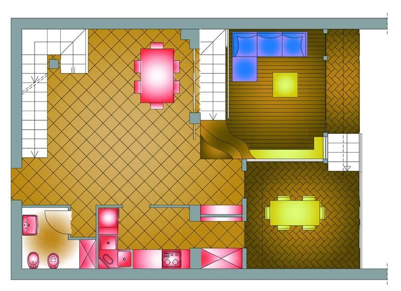 Ingrandire il soggiorno-sala da pranzo