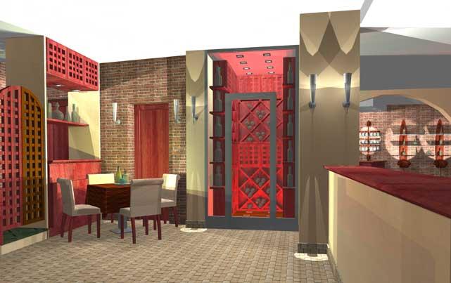 Arredamento di un ristorante in montagna for Arredamento sala ristorante