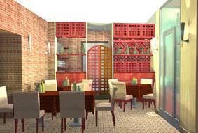 sala con tavoli ristorante