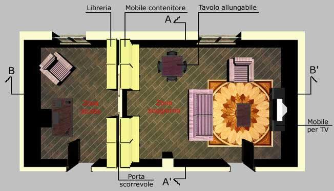 soggiorno con angolo studio - Creare Una Zona Studio In Soggiorno 2