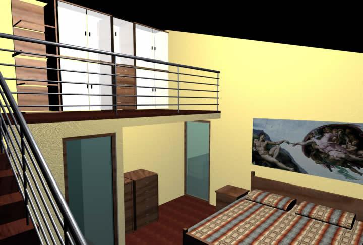Due camerette per due gemelle - Camere da letto con soppalco ...