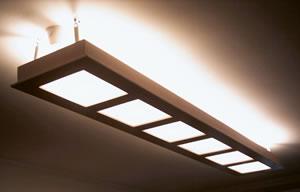 Plafoniera su soffitto