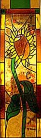 vetrata girasole