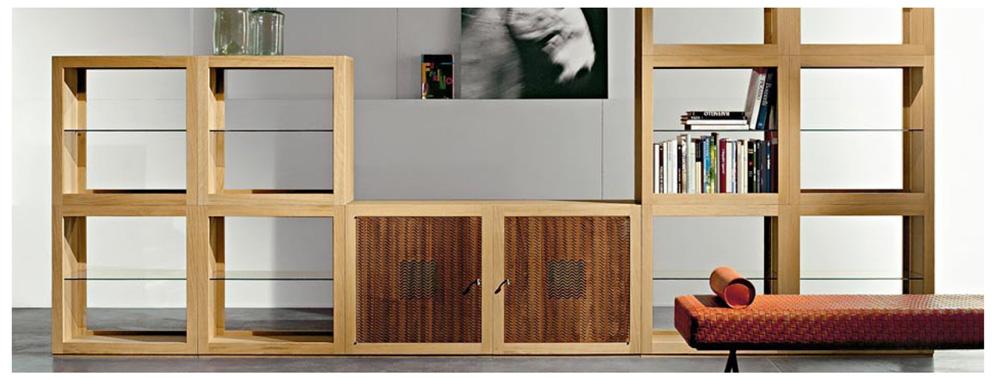 Pareti attrezzate o mobili divisori - Parete in legno fai da te ...