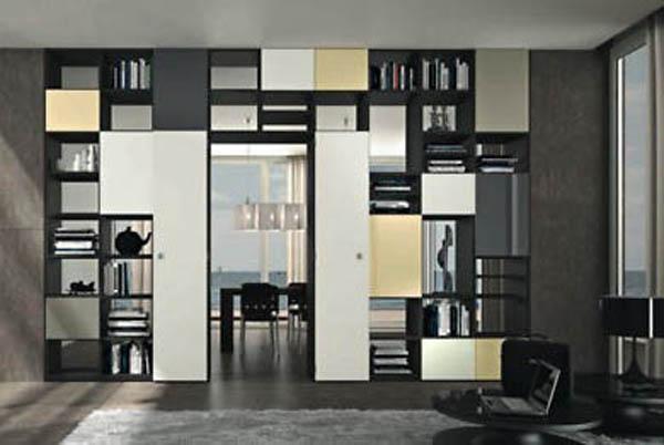 Pareti attrezzate o mobili divisori for Divisori ambienti ikea