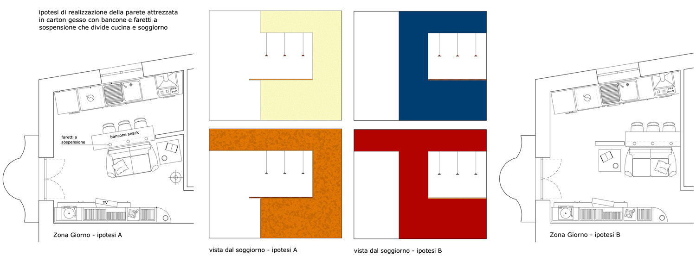 pareti attrezzate o mobili divisori - Mobili Divisori Cucina Soggiorno 2