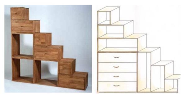 Pareti attrezzate o mobili divisori for Scala per libreria